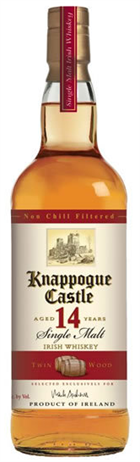 Knappogue Castle Irish Whiskey Single Malt 14 Year Twin Wood